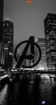 Avengers Black and White Wallpaper<br>