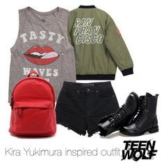 """""""Kira Yukimura inspired outfit/TW"""" by tvdsarahmichele ❤ liked on Polyvore featuring Chicnova Fashion, Billabong, Alexander Wang and Sunsteps"""