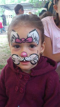 arcfestés gyerekeknek cica minta lányoknak