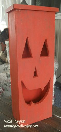 Diy Lighted Wood Pumpkin