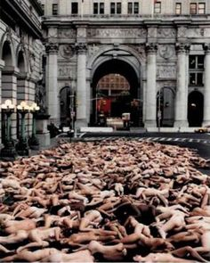 Can you find me? by Spencer Tunick....nyc summer 1998.