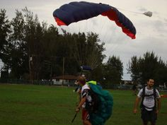 It is skydiving on the day preceding the Honolulu marathon.   Results are 4 hours and 30 minutes.