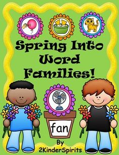 Spring Into Word Families includes a literacy center game for 16 word families, a word family sorting activity, and printable worksheets for each word family. Laminate the flowers and flowerpots for your students to practice reading family words and matching them to pictures.   *Short a word families - ag, am, an, at*Short e word families - ed, en, et*Short i word families - ig, in, ip*Short o word families - og, op, ot*Short u word families - ub, ug, un