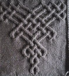 Knot # 221 (idea for the neckline) . : Knot # 221 (idea for the neckline) Cable Knitting Patterns, Knitting Charts, Easy Knitting, Knitting Stitches, Knitting Designs, Knitting Projects, Crochet Patterns, Knitting Machine, Celtic Patterns