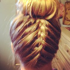 Sock bun with braid!