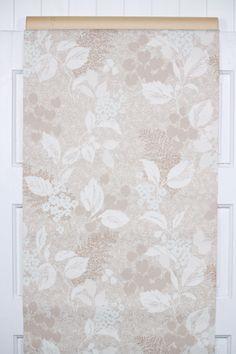 1950s Botanical Wallpaper Design from Hannahs Treasures Collection Gray Blue Fern Leaves Digital Vintage Wallpaper for Instant Download