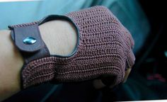 Crochet leather gloves/ Driving gloves for men/ leather driving gloves/ Fingerless Driving Gloves / leather mittens/ Gift for Him by OplichLeatherGoods on Etsy