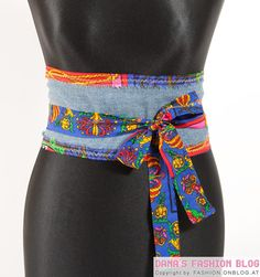 DIY Fashion Tutorial: Wrap Belt from Old Jeans