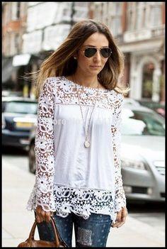 Blusa Blanca                                                                                                                                                     Más