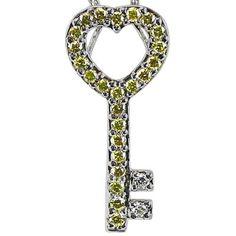 Platinum Diamond Key Pendant Da'Carli. $1760.00