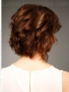 Medium Brown Curly Casual Style Side View