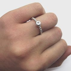 Handmade Sterling Silver Initial ring by JasmineBowdenShop on Etsy