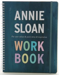 This is my book Annie Sloan Work Book published with Oxfordfolio and I am so so pleased with it  I published it in 2012   It's a sort of scrapbook with lots of little notes and tips as well as 3 pockets for your scraps and fabrics you have collected.