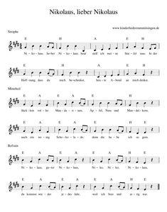 Noten Text Nikolaus, lieber Nikolaus Nikolaus, lieber Nikolaus - ist ein deutsches Kinderlied und Weihnachtslied. Es handelt vom heiligen Nikolaus, der je nach Region am 5. bzw. 6. Dezember von Haus zu Haus zieht, um die braven Kinder zu beschenken. Geschrieben, komponiert und illustriert wurde das Lied vom muenchenmedia-team zu Ehren des heiligen Nikolaus von Kindergarten Portfolio, Kindergarten Songs, Guitar Chords For Songs, Music Score, Problem Solving Skills, Creative Thinking, Mask For Kids, Sheet Music, Writing
