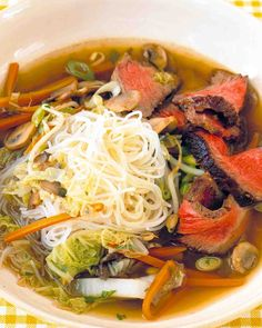 Seared Beef and Noodle Soup-Martha Stewart
