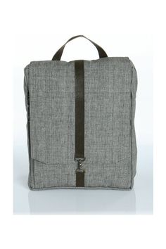 Grey Cotton 15 Laptop backpack Vegan Laptop by Begforabag