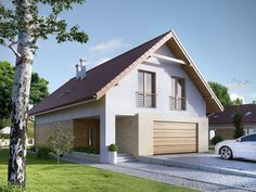 Projekt domu MT Amarylis 2 paliwo stałe CE - DOM - gotowy koszt budowy Home Greenhouse, Roof Lines, Modern Cottage, House Elevation, House Plans, Shed, New Homes, Floor Plans, Exterior