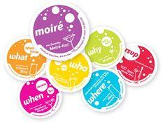 Moiré Studio - Open House coasters invitation by Bryan Byczek, via Behance