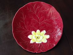 German majolica! A great vintage decorative plate.