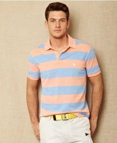 Nautica Shirt, Oxford Slim Fit Stripe Shirt - Mens Polos - Macy's