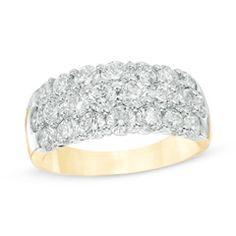 2-3/8 CT. T.W. Diamond Three Row Anniversary Ring in 14K Gold