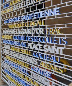 La signalétique par Ruedi Baur © Philippe Gisselbrecht / Office de Tourisme de Metz
