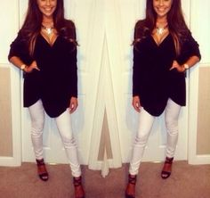 Fall Outfit - Black and white