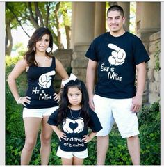 He's/she's/their Family Shirt Set  2 adult by DIMENSIONSclothing