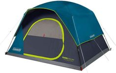 Coleman Dark Room Skydome Camping Tent Coleman Dark Room Skydome Camping Tent is a beautifully designed freestanding construction that blocks up to of sunlight. This is a very tall, pleasant, easy to use family camping tent. Family Camping, Tent Camping, Camping Ideas, Suv Tent, Coleman Tent, 6 Person Tent, Tent Set Up, Tent Reviews, Tent Design