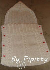 Passeando pelas postagens do Pinterest, me chamou a atenção a imagem deste casulo:      Continuei a busca para encontrar a receita. Está em ... Baby Knitting, Crochet Baby, Pull Bebe, Knitted Baby Blankets, Knitwear Fashion, Filet Crochet, Sleeping Bag, Baby Booties, Diy And Crafts