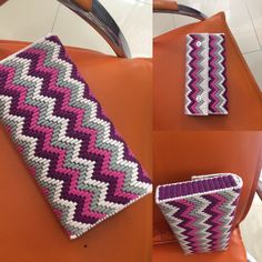 To Make All Your Projects Successful - Diy Crafts - Marecipe Plastic Canvas Stitches, Plastic Canvas Tissue Boxes, Plastic Canvas Crafts, Plastic Canvas Patterns, Bargello Patterns, Bargello Needlepoint, Crochet Bag Tutorials, Crochet Clutch, Canvas Purse