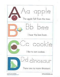 End Of The Year Activities: Reviewing The Alphabet - Free Printables from Teach With Me