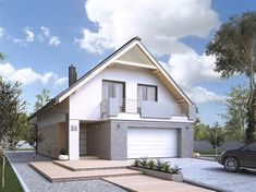 Projekt domu Amarylis 3 152,6 m2 - koszt budowy - EXTRADOM Gable Roof, Modern House Design, Home Fashion, House Plans, Garage Doors, Shed, Outdoor Structures, House Styles, Building