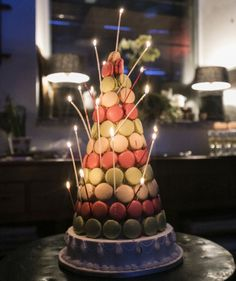 www.italianfelicity.com #birthdaycake #macaron #laduree