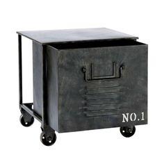Rolltisch im Industry-Stil EDISON aus Metall, B 39 cm