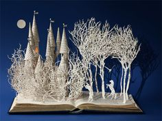 Another enchanting paper sculpture scene from Su Blackwell's new book 'The Fairy Tale Princess: Seven Classic Stories from The Enchanted Forest' (Thames & Hudson)