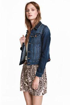 giacca jeans larga hm