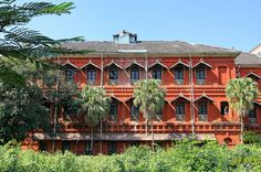 The old  Burma Railway Headquarters in Rangoon which is now turned into a hotel and  self contained apartments.