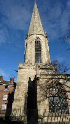 A church has stood on the site of St Mary's Church in Castlegate, York, since pre-conquest times.  Although most of the present church is 12th-13th century, there is a dedication stone in the building which dates to around 1020.