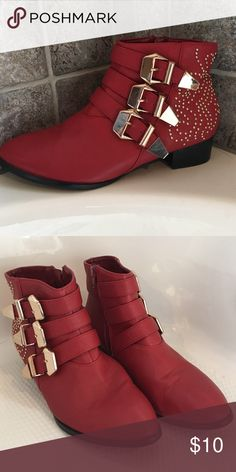 Shoe boots Red forever 21 shoe boots Forever 21 Shoes Ankle Boots & Booties