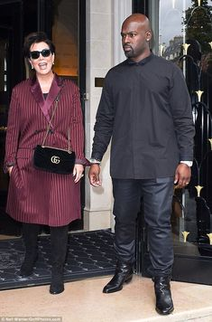Fashionista: With another day came another chic ensemble as Kris Jenner, 60, stepped out i...