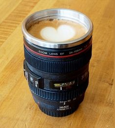 Camera Lens Stainless Steel Coffee Mug - $14.00