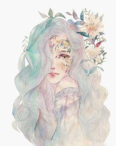 Flower Girl, Digital Art 2017