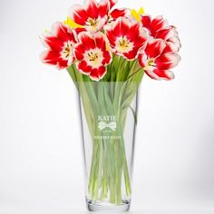Personalised Conical Vase - Bridesmaid Classic Bow