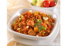 Tarhonyás csirke Mediterrán módra Tupperware, Fried Rice, Fries, Curry, Ethnic Recipes, Curries, Tub, Nasi Goreng, Stir Fry Rice
