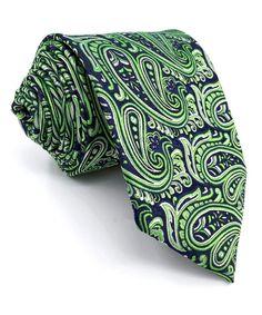 6cfeec6b32f8 Green Blue Paisley Neckties Men's Tie New Design Extra Long Silk -