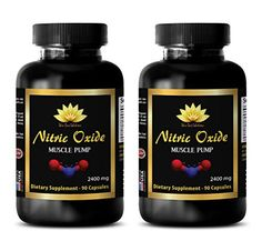 Muscle building capsules  NITRIC OXIDE MUSCLE PUMP 2400Mg  Nitric oxide supplements for heart  2 Bottles 180 Capsules -- You can find out more details at the link of the image-affiliate link.