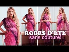 ▶ Robes d'été sans couture ★ Comment mettre un sari indien - YouTube