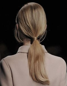 low ponytail covering hairband