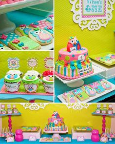 Look whooo's one at this adorable owl party! Get owl printables and fun fabulous owl party decoration ideas and DIY's for your little girl's next birthday! Owl Themed Parties, Owl Parties, Owl Birthday Parties, Girl Birthday, Birthday Ideas, Owl Party Decorations, Owl Birthday Invitations, Fiesta Baby Shower, Partys